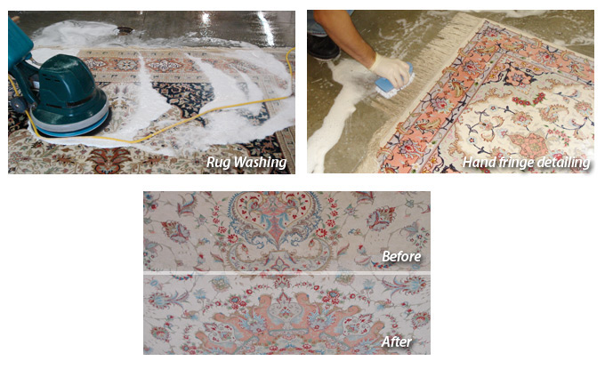 Oriental and Rug Care Before and After